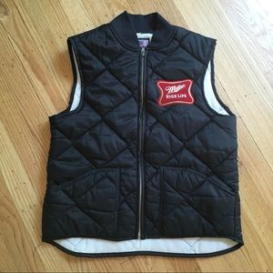 Snap N Wear Miller High Life Quilted Vest USA S